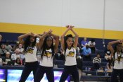 The dance team performs during the break in the men's basketball game. Photo by Hannah Onder