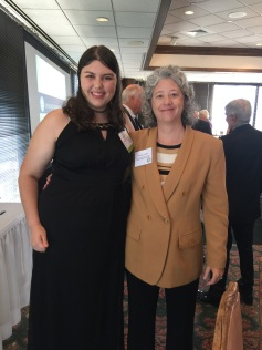 Hannah Onder and Dr. Kay Colley pose together at the 2017 Headliners of Texas luncheon in Austin, TX. Photo by Melanie Onder