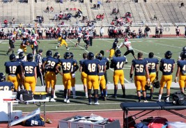Texas Wesleyan plays Bacone College at Farrington Field for homecoming on Oct. 14. Photo by Hannah Onder